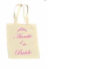 Auntie of the BRIDE 100% Cotton Bag #10