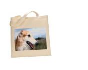 Borzoi Brindle DOG 100% Cotton Bag(FC) #37