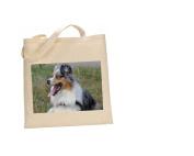 Border Collie Blue Merle DOG 100% Cotton Bag(FC) #34