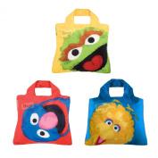 ENVIROSAX Sesame Street (set of 3 bags) Oscar, Grover & Big Bird shopping bags