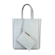 Made In Italia Shopping Bag Of 100% Saffiano Leather Polvere