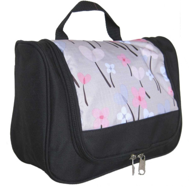 Toiletry Bag (Silver Floral)