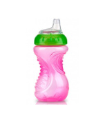 Nuby 9607 Simply Easy Grip Beaker No Spill Soft Silicone Spout 6 months+ 10 oz / 300 ml COLOURS MAY VARY