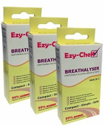 6x Ezy-CheK Disposable Breathalyser - Bagless Technology : UK and NF Standards (3x Twin Pack) Breathalyser