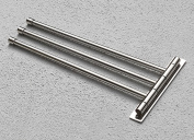 BTSKY™ Wall-mounted Brushed Stainless Steel Kitchen Towel Rack Holder with 3 Swivel Bars