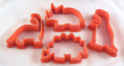 Dinosaur Cookie Cutters Set of Four, Biscuit, Pastry, Fondant Cutters
