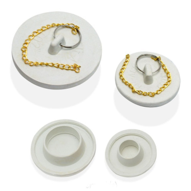 2 Drain Stoppers Fit All Rubber Plugs Large Small Bathtub Bath Kitchen Sink New