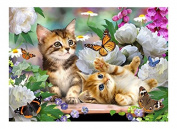 Tuftop 40cm x 30cm Medium Worktop Saver, Playtime Cats