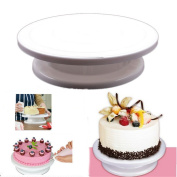 HENGSONG Kitchen Tools Cake / Icing Decorating Turntable Display Table Stand - White