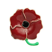 SCORPIUS GIFTS Quality Red Enamel ' Poppy ' Brooch In Free Organza Gift Bag