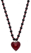 Amanti Venezia Red Murano Glass Heart Necklace of Length 42-46.5cm