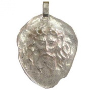 "800 Solid Silver "" The Holy Face "" Medal"