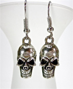 Vintage Skull Silver Skull Earrings Ear Rings Earrings Gioielli Geralin