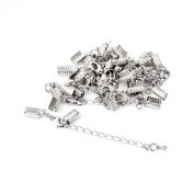 Necklace Bracelet Jewellery Extenders Chain Clasp and Clip Ends Set 12pcs Silver