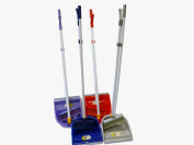 Folding Plastic Long Handled Dustpan And Brush Dust Pan With Brush Set (Colour Choice)
