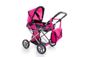 TOY DOLL PRAM PUSHCHAIR COT BUGGY BAG STROLLER