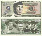 Novelty Dollar Leonard Simon Nimoy Commemorative Million Dollar Bills x 4 Spock Star Trek