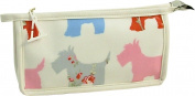 Vagabond Scottie Dog Oil Cloth Gusset Cosmetic ToiletriesBag