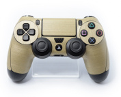 CONTROLLER 3D Textured Premium Brushed GOLD Accessory Wrap Decal Sticker Skin for Playstation 4 PS4