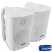 2x Adastra White Wall Mountable Surround Sound Home Audio Hi-Fi Speakers 60W