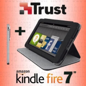 """TRUST 2-in-1 Magnetic Multi-View Folio Cover Case Stand with Sleep/Wake Function + STYLUS for Amazon Kindle Fire 7"""""""