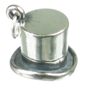 Top Hat sterling silver charm .925 x 1 Smart Dress Gents Hats charms SSLP1676