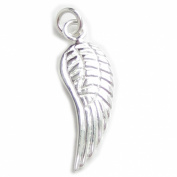 Angel wing sterling silver charm .925 x1 Angels Wings Protection charms WSSP7939