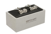 Bike Cycle Chain Cufflinks In Onyx Art Cufflink Box