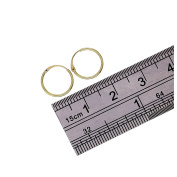 9ct Gold Plain 10mm - 20mm Hoop Sleeper Hoops / Sleepers / Earrings