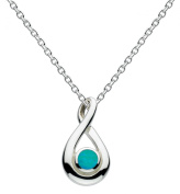 Dew Women's Sterling Silver Pear Twist Necklace of Length 46cm
