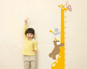 ufengke® Cute Bear Giraffe Height Chart Decals, Children's Room Nursery Removable Wall Stickers Murals