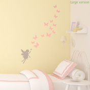Fairies and butterflies wall sticker by Stickerscape (Large size) - 46cm x 83cm - Part of the Fairy Princess collection