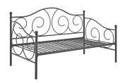 DHP Victoria Twin Size Metal Daybed, Dark Grey