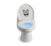 Toilet Smiley Face Decal Wall Art Decor Funny Bathroom Sticker (come with glowindark switchplate decal) StickerCiti Brand