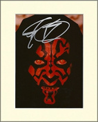RAY PARK STAR WARS DARTH MAUL SIGNED AUTOGRAPH PHOTO PRINT IN MOUNT