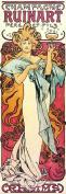 Champagne Ruinart, Reproduction 1897 Alfons Alphonse Mucha Art Nouveau Picture Print, Fine Art