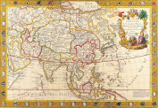 A3 Print - Antique Map of Asia - Guillaume Danet - 1732