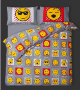 Single Bed Duvet / Quilt Cover Bedding Set Smiley Bedding Emoji / Faces / Expressions / Emoticons