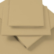Luxury Percale Flat Top Sheet - DOUBLE - COFFEE (Biscuit, Beige) - 180TC