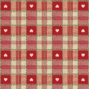 Love Hearts Gingham Cheque RED Table Vinyl Oilcloth Wipe Clean Tablecloth 200 x 137cm