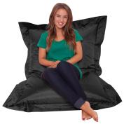 Giant Bean Bag Slouch Sack BLACK - 100% Waterproof Bean Bags Indoor/Outdoor