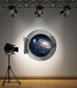 Full Colour Galaxy Space Porthole Wall Sticker Decal Kids Bedroom Decoration