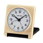 Seiko Travel Alarm Clock, Plastic, Analogue, QHT015G gold