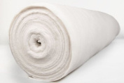 THICK 100% COTTON CURTAIN BUMP THERMAL LINING INTERLINING MATERIAL 140cm WIDTH & SOLD BY THE METRE - WHITE