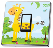 Jungle Giraffe Light Switch Sticker skin decal cover