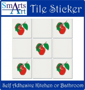 Smarts-Art 10 X APPLES Stickers transfers 15cm Tile transfers full colour print kitchen any room flat surface