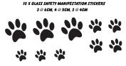 Pawprints Glass Safety Manifestation Conservatory Glass Window Decals Stickers