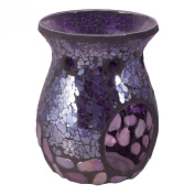 Flame and Fragrance Glass Mosaic Scented Melt Holder - Purple Pebbles