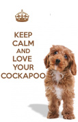 A fridge magnet with a picture of a Cockapoo puppy dog with the words KEEP CALM AND LOVE YOUR COCKAPOO from our KEEP CALM and CARRY ON range. A unique Birthday or Christmas stocking filler gift idea for a dog lover!
