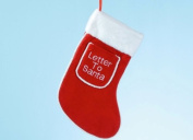Christmas Stocking With Letter To Santa Pocket